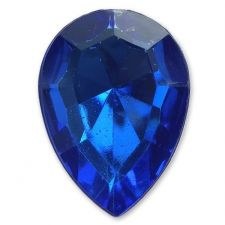 13mm x 18mm Electric Blue Teardrop Shape Acrylic Embellishment Gems